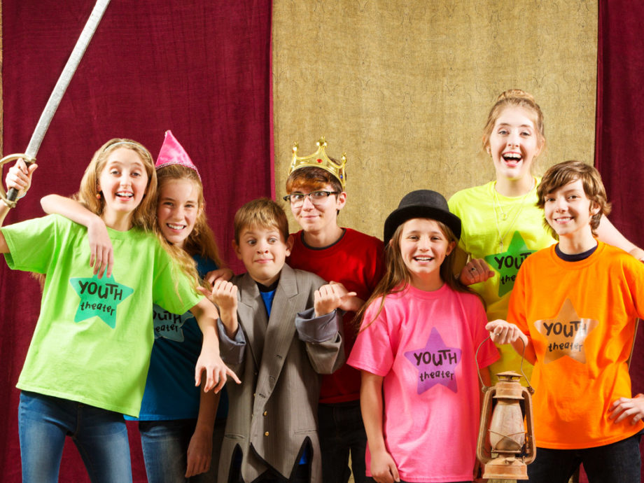Group of kids in the ensemble theater group